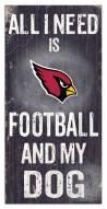 Arizona Cardinals Football & My Dog Sign