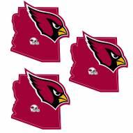 Arizona Cardinals Home State Decal - 3 Pack