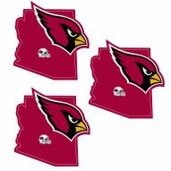 Arizona Cardinals Home State Decal - 3 Pack