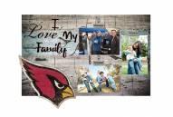 Arizona Cardinals I Love My Family Clip Frame