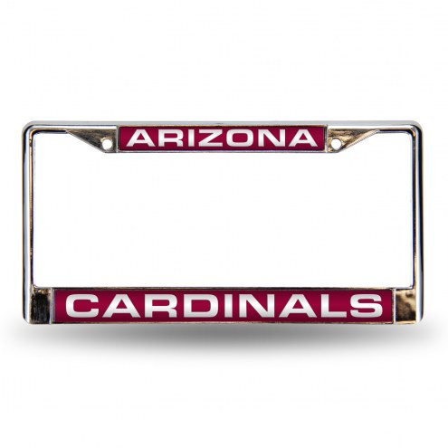 Arizona Cardinals Laser Chrome License Plate Frame