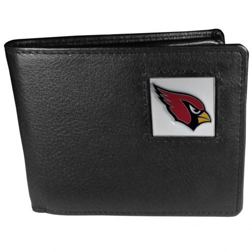 Arizona Cardinals Leather Bi-fold Wallet in Gift Box
