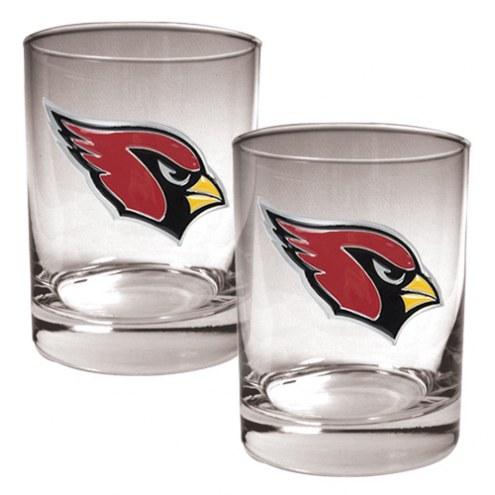Arizona Cardinals Logo Rocks Glass - Set of 2