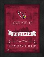 Arizona Cardinals Love You to and Back Framed Print