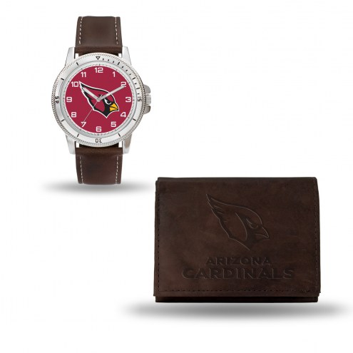 Arizona Cardinals Men's Niles Watch & Wallet Set
