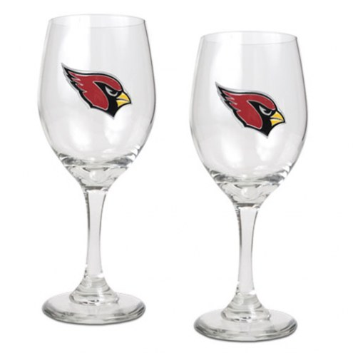 Arizona Cardinals NFL Wine Glass - Set of 2