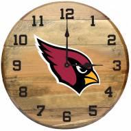 Arizona Cardinals Oak Barrel Clock