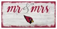 Arizona Cardinals Script Mr. & Mrs. Sign