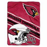 Arizona Cardinals Slant Raschel Blanket