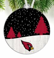 Arizona Cardinals Snow Scene Ornament