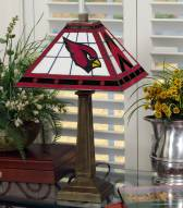 Arizona Cardinals Stained Glass Mission Table Lamp