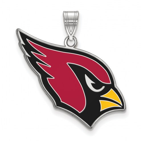 Arizona Cardinals Sterling Silver Enamel Pendant