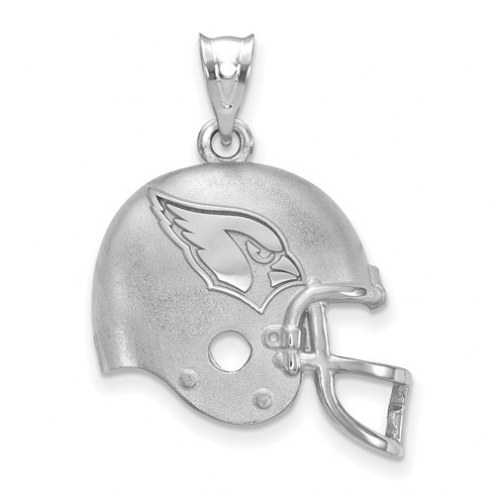 Arizona Cardinals Sterling Silver Football Helmet Logo Pendant