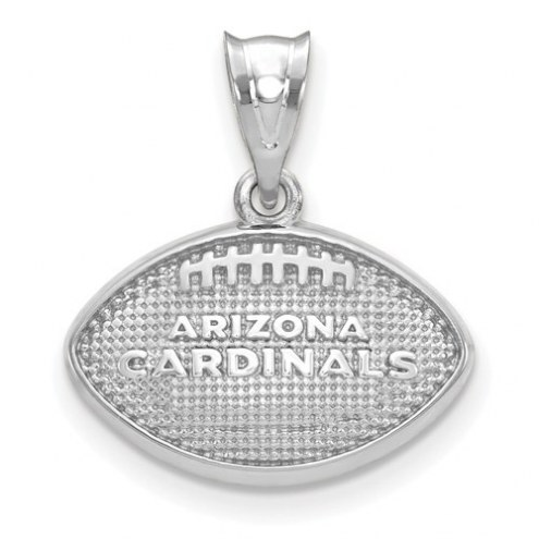 Arizona Cardinals Sterling Silver Football with Logo Pendant