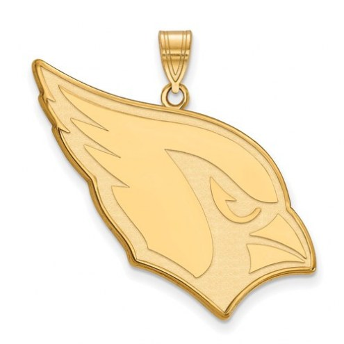 Arizona Cardinals Sterling Silver Gold Plated Extra Large Pendant
