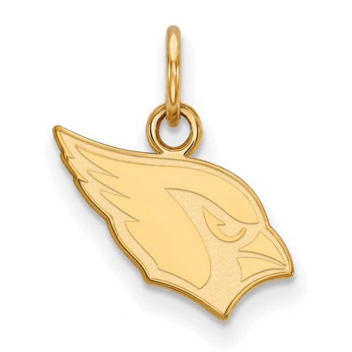 Arizona Cardinals Sterling Silver Gold Plated Extra Small Pendant