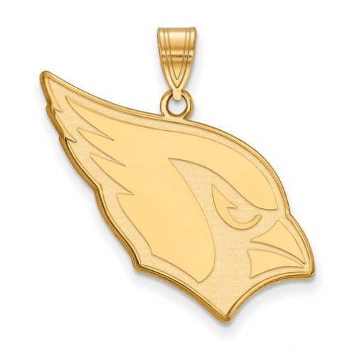 Arizona Cardinals Sterling Silver Gold Plated Large Pendant