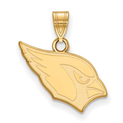Arizona Cardinals Sterling Silver Gold Plated Small Pendant