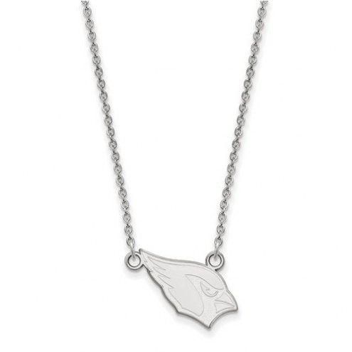 Arizona Cardinals Sterling Silver Small Pendant with Necklace