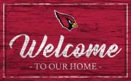 Arizona Cardinals Team Color Welcome Sign