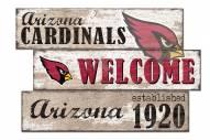 Arizona Cardinals Welcome 3 Plank Sign