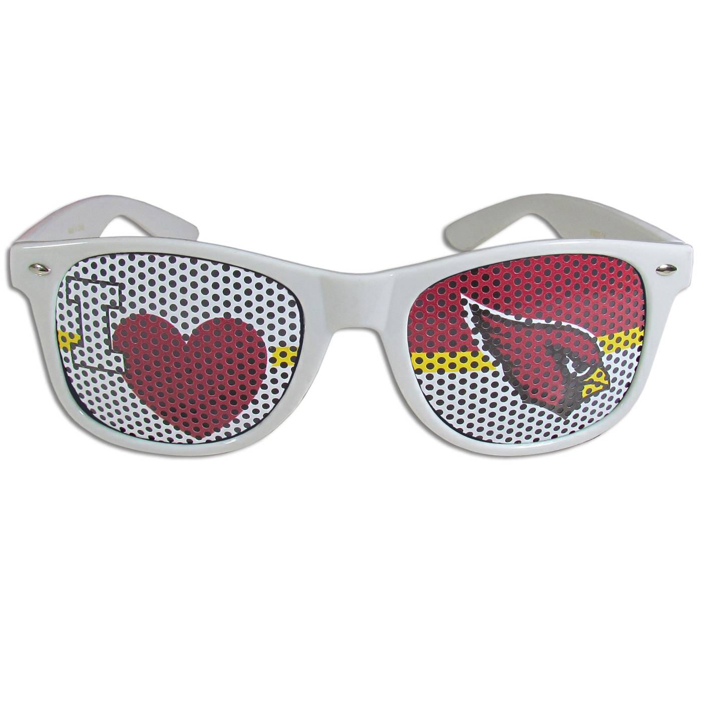 Arizona Cardinals White I Heart Game Day Shades