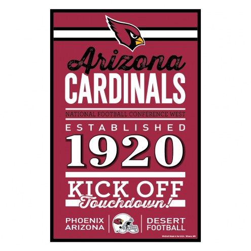 Arizona Cardinals Established Wood Sign