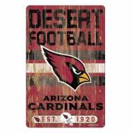 Arizona Cardinals Slogan Wood Sign