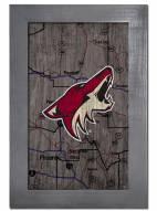 "Arizona Coyotes 11"" x 19"" City Map Framed Sign"