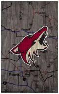 "Arizona Coyotes 11"" x 19"" City Map Sign"