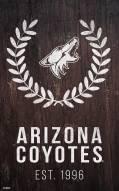 "Arizona Coyotes 11"" x 19"" Laurel Wreath Sign"