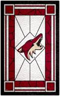"""Arizona Coyotes 11"""" x 19"""" Stained Glass Sign"""