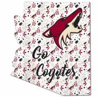 """Arizona Coyotes 12"""" Floral State Sign"""