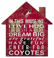 "Arizona Coyotes 12"" House Sign"