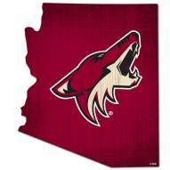 "Arizona Coyotes 12"" Team Color Logo State Sign"