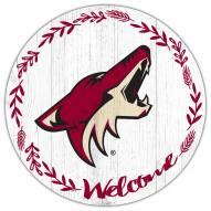 "Arizona Coyotes 12"" Welcome Circle Sign"