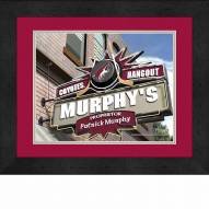 Arizona Coyotes 13 x 16 Personalized Framed Sports Pub Print