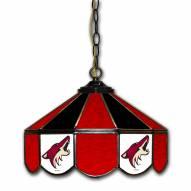 "Arizona Coyotes 14"" Glass Pub Lamp"