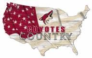 "Arizona Coyotes 15"" USA Flag Cutout Sign"