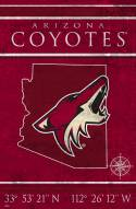 "Arizona Coyotes 17"" x 26"" Coordinates Sign"