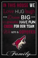 """Arizona Coyotes 17"""" x 26"""" In This House Sign"""