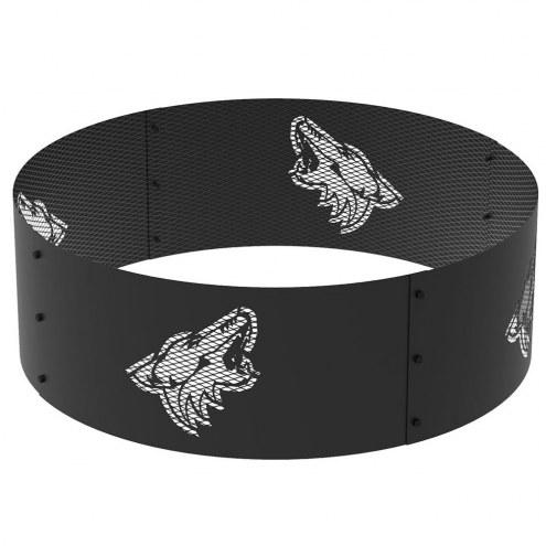 "Arizona Coyotes 36"" Round Steel Fire Ring"