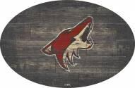 "Arizona Coyotes 46"" Distressed Wood Oval Sign"