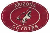 "Arizona Coyotes 46"" Heritage Logo Oval Sign"