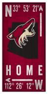 "Arizona Coyotes 6"" x 12"" Coordinates Sign"