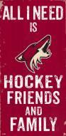 "Arizona Coyotes 6"" x 12"" Friends & Family Sign"