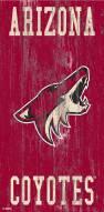 "Arizona Coyotes 6"" x 12"" Heritage Logo Sign"
