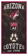 "Arizona Coyotes 6"" x 12"" Heritage Sign"