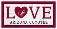 "Arizona Coyotes 6"" x 12"" Love Sign"