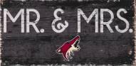 "Arizona Coyotes 6"" x 12"" Mr. & Mrs. Sign"